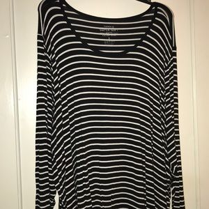 Torrid SUPER SOFT STRIPED LONG SLEEVE TEE Sz 5